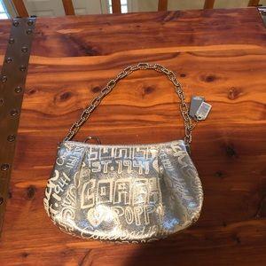 "Coach limited edition metallic silver ""Poppy"" bag"